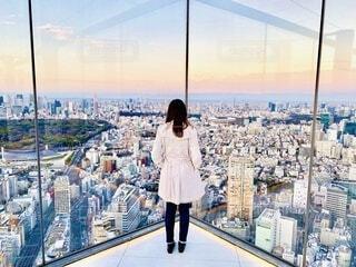 東京の街景色と私の写真・画像素材[3905250]