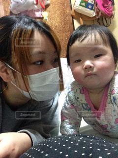風邪ひきママの写真・画像素材[326766]