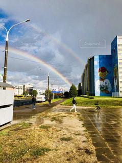 二重の虹の写真・画像素材[2508801]