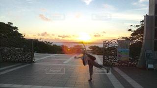 空,夕日,沖縄
