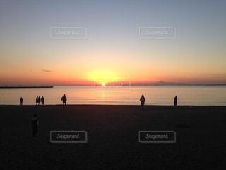 海,空,夕日,稲毛海浜公園