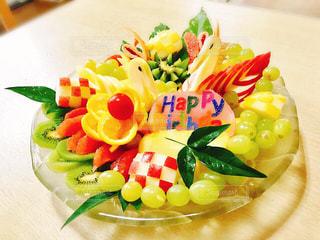 カラフル,鮮やか,プレゼント,フルーツ,スワン,誕生日,おめでとう,飾り切り,彩り
