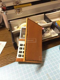 DIY,工作,革細工,電卓カバー