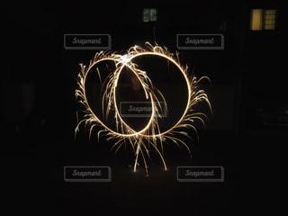 夏,夜,花火,絵,子供,手持ち,風物詩,8月,7月,手持ち花火,夏の思い出,花火アート,handheld fireworks,花火絵,花火2本