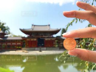 平等院鳳凰堂と十円硬貨の平等院鳳凰堂の写真・画像素材[823410]