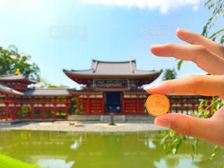 平等院鳳凰堂と十円硬貨の写真・画像素材[929177]