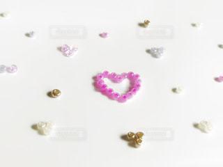 ピンク,白,ラベンダー,ハート,ホワイト,heart,White,金,pink,ゴールド,GOLD,ビーズ,lavender,beads