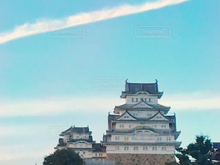 姫路城と雲♪の写真・画像素材[2418821]