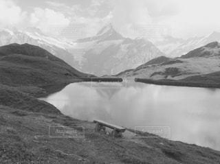 雪の覆われた山々の景色の写真・画像素材[822227]