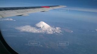空,富士山,雪,飛行機,山,旅行,休日,フライト,お出かけ