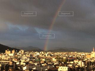 空,虹,雨上がり,梅雨