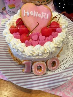 ケーキ,ハート,記念日,100日