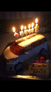 プレゼント,車ケーキ
