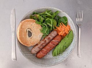 食べ物,朝食,ベーグル,あさごはん,ソーセージ,ジョンソンヴィル
