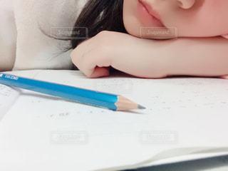 女性,勉強,眠い,鉛筆,飽きた