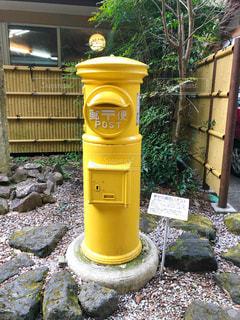 黄色,手紙,旅行,ポスト,幸せ,九州,宮崎,高千穂,郵便,葉書,幸せの黄色いポスト,黄色いポスト