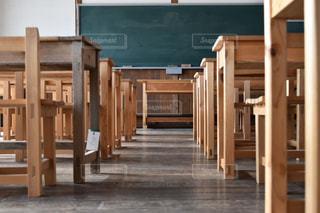 椅子,机,教室,黒板orホワイトボード