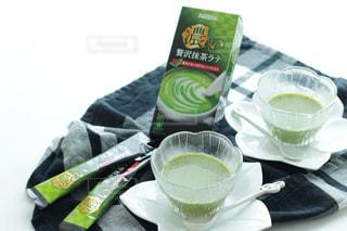 手つくり豆乳と贅沢抹茶ラテの寒天ゼリーの写真・画像素材[1278082]