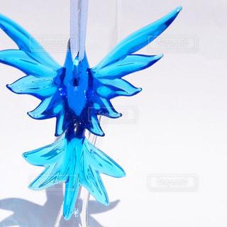 プレゼント,青色,透明感,青い鳥,しあわせ,ガラスオブジェ