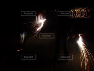 夏,夜,花火,光,手持ち花火