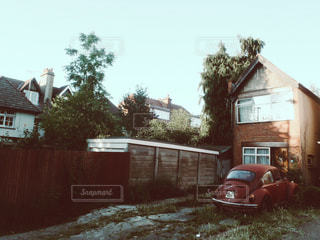 家と車の写真・画像素材[1254056]