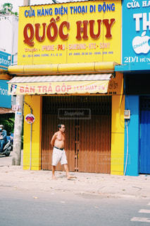 街並み,海外,黄色,日差し,ベトナム