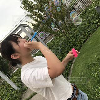 シャボン玉の写真・画像素材[714280]