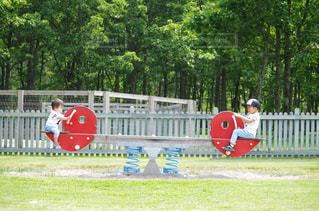 公園でフリスビーを持って男は、の写真・画像素材[815954]