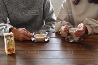 キャラメルホッ豆乳の写真・画像素材[3791063]