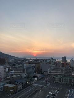 夕焼け,夕暮れ,北海道,夕陽,函館