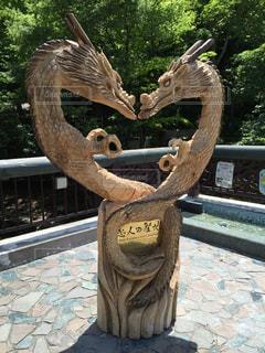 恋人,2匹,観光,ハート,岩手,龍,ドラゴン,デート,恋人の聖地,竜,龍泉洞,木像,空想生物