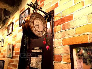 花,植物,バラ,時計,レトロ,レンガ,薔薇,ドア,写真,造花,壁掛け時計,まる時計