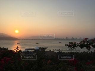 夕陽の写真・画像素材[3447808]