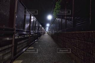 夜ライトアップ橋の写真・画像素材[1257569]