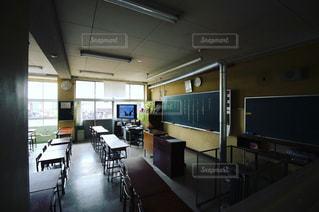 机,黒板,卒業式,余韻