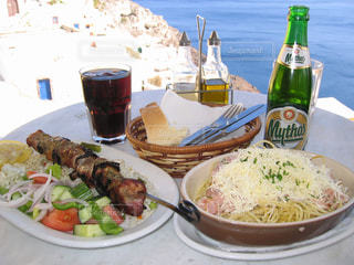ギリシャ料理の写真・画像素材[408533]