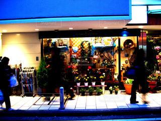 クリスマス,横浜,夕暮れ時,フラワーショップ,私の街,西口