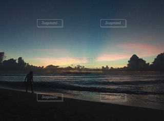 sunset beachの写真・画像素材[983802]