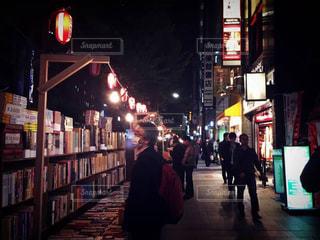 夜,東京,本,読書,祭り,神保町,古本,古本まつり