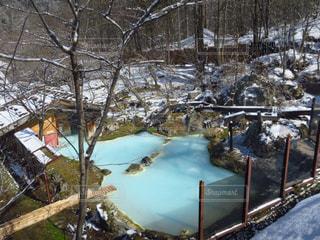 冬,温泉,雪山,露天風呂,にごり湯,日帰り湯