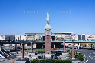 駅前にそびえる大きな時計塔@倉敷の写真・画像素材[1134783]