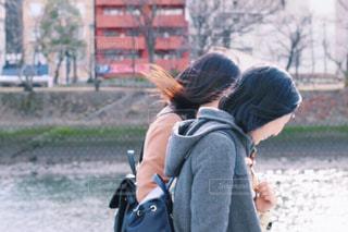 女性,冬,二人組,かわいい,仲良し,ツーショット