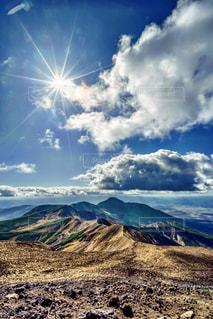十勝岳から富良野岳、上ホロカメットク方面を望むの写真・画像素材[1416590]