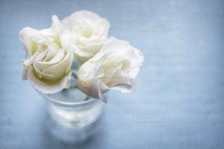 テーブルの上に座っての花で一杯の花瓶の写真・画像素材[908863]