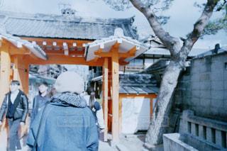 京都で訪れた神社。天気が良くて心地よかった。の写真・画像素材[1022387]