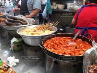 屋外,海外,市場,韓国,海外旅行,KOREA,トッポギ,広蔵市場