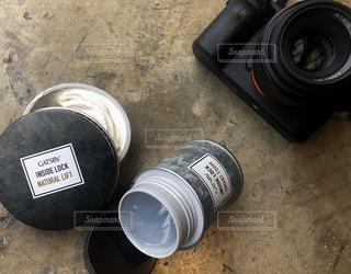 カメラ,床,ボトル,コンクリート,レンズ,地面,打ちっ放し,ヘアワックス