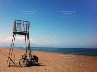 海,自転車,ビーチ,砂浜,北海道,サイクリング,石狩市