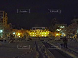 冬の散歩道の写真・画像素材[890547]