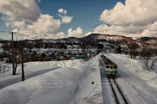 雪列車の写真・画像素材[2417707]